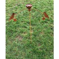 Bird Feeder And Bowl Wind Rocker Double Ball