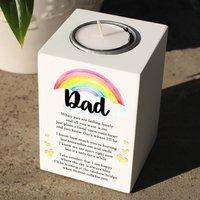 Personalised Rainbow Bridge Memorial Tealight Holder