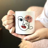Personalised Line Drawing Of A Face Mug