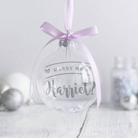 Personalised 'Marry Me?' Christmas Bauble
