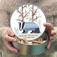 Personalised Badger Keepsake Tin