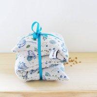 Blue Parsley Linen Wheat Heat Bag, Blue