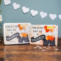 Personalised My Day As A Pageboy Activity Pack