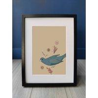 Happy Bird And Flowers Print