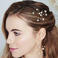 Star Swarovski Earrings And Hair Pins Set Lunaria