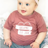 Baby's Name Heart Tattoo T Shirt