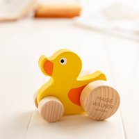 Personalised Push Along Wooden Duck Toy