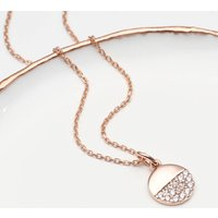Personalised 18ct Rose Gold Disc Necklace, Gold