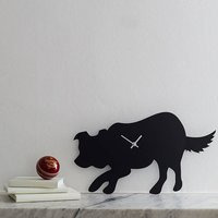 Border Collie Clock With Wagging Tail