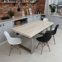 Dixon White Solid Wood Dining Table