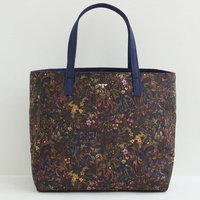 Fable Navy Meadow Tote