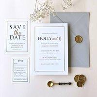 Modern Gold Foil Wedding Invitations