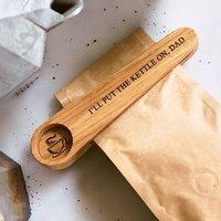 Solid Oak Personalised Coffee Scoop