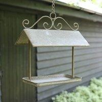 Olive Green Hanging Bird Feeder