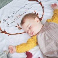 Personalised Antler Baby Blanket
