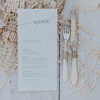 Isabelle Menu Card