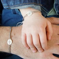 Father And Child Compass Bracelet Set