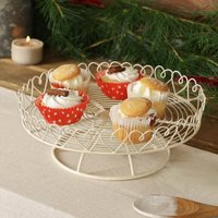 Country Hearts Vintage Cake Stand