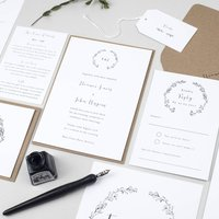 Delicate Laurel Wedding Invitation