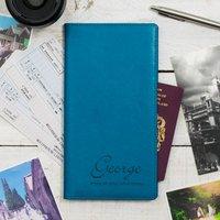 Script Name Personalised Travel Document Holder