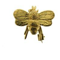 Gold Vermeil Bumble Bee Brooch, Gold