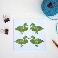 Green Duck Greetings Card