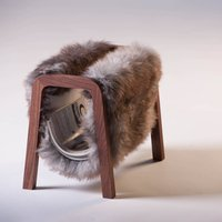 Sheepskin Magazine Rack