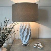 Handmade Antique White Ceramic Table Lamp Acrylic Base