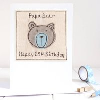 Personalised Bear Birthday Card For Him