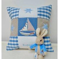 Boat And Stars Cushion