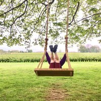 Personalised Oak And Rope Medium Swing