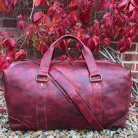 Luxury Large Leather Holdall, Travel Bag