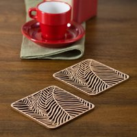 Ferns Wooden Coaster Set