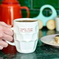 Personalised Handmade Pint Style Mug, Pink/Yellow/Lime Green