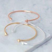 Art Deco Delicate Cuff Bangle, Rose Gold/Rose/Gold