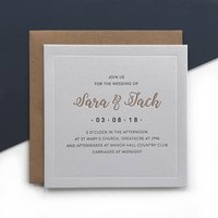 Immy: Letterpress Wedding Invitation