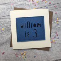 Personalised Birthday Boy Name And Age Card