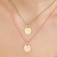 Personalised Enamel Beaded Chain Necklace