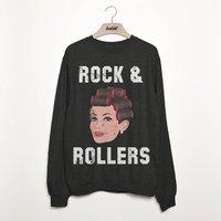Rock And Rollers Women's Slogan Sweatshirt