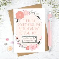 Will You Be My Bridesmaid Scratch Card, Grey/Pink/Baby Blue