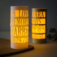 Memorial Lantern Personalised In Loving Memory