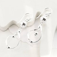 Sterling Silver Fashion Flare Drop Earrings, Silver