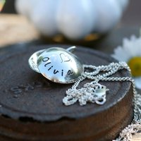 Personalised Silver Lucy Locket, Silver