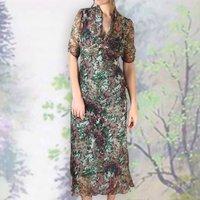 Longline Dress In Fioretta Print Silk Georgette