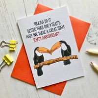 Toucan Themed Anniversary Card