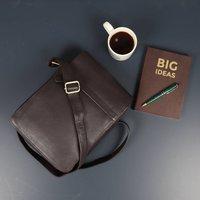 Brown Leather Cross Body Messenger Bag