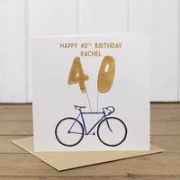 Personalised Bike 40th Birthday Card