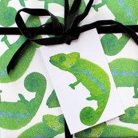 Chameleon Eco Gift Tag Set Of Six