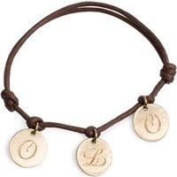 9ct Solid Gold Signature Charm Bracelet, Gold