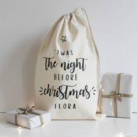 Personalised Name Christmas Eve Bag
